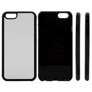 iPhone 6 plus rubber blank sublimation case black