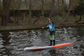 Auch im Ziel immer noch entspannt ;-P HISWA Amsterdam 2016