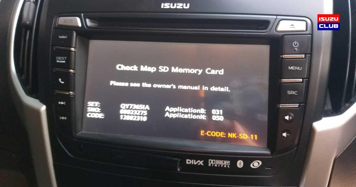 check map sd card error
