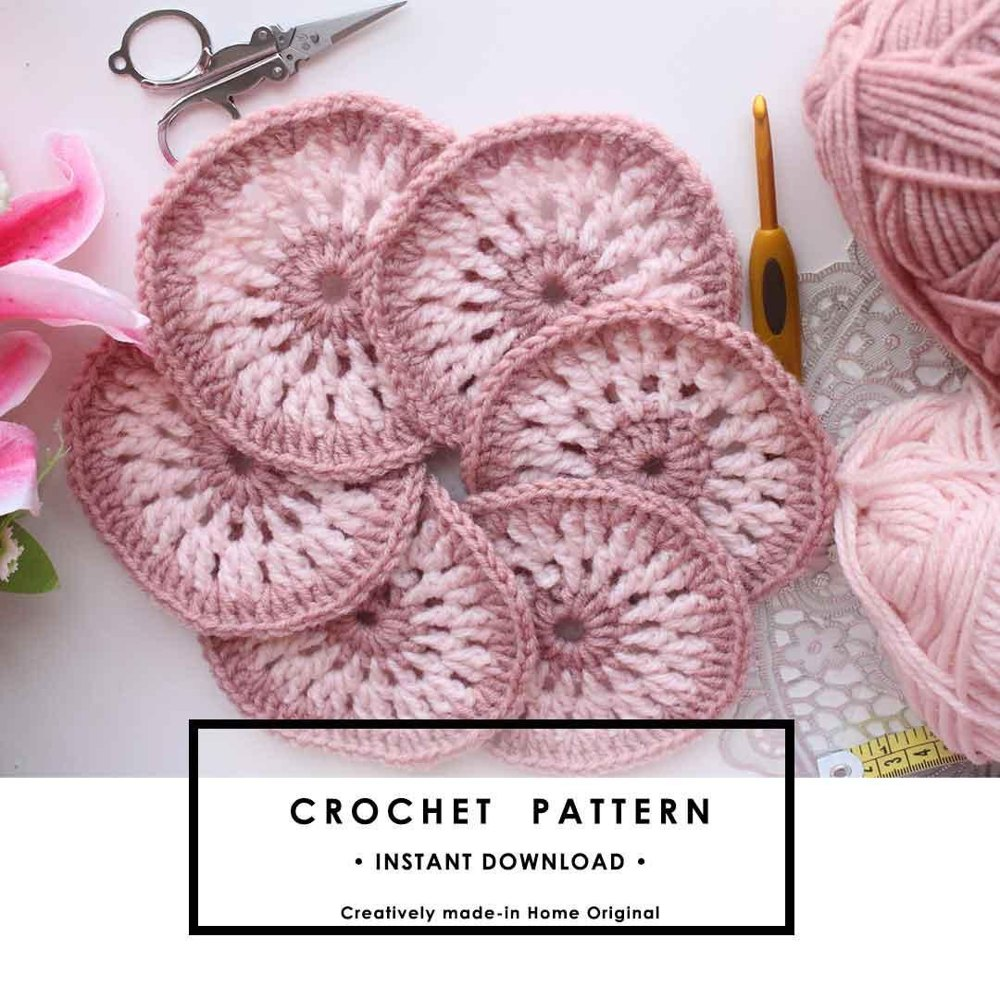 hight resolution of easy and beautiful crochet coaster pattern