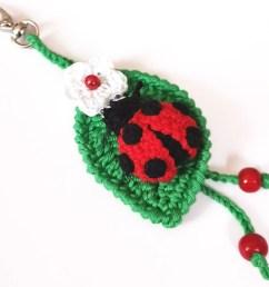 ladybug key chain ladybird keyring crochet bag charm ladybug pendant [ 1000 x 800 Pixel ]