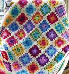 colourful granny square blanket [ 1000 x 826 Pixel ]