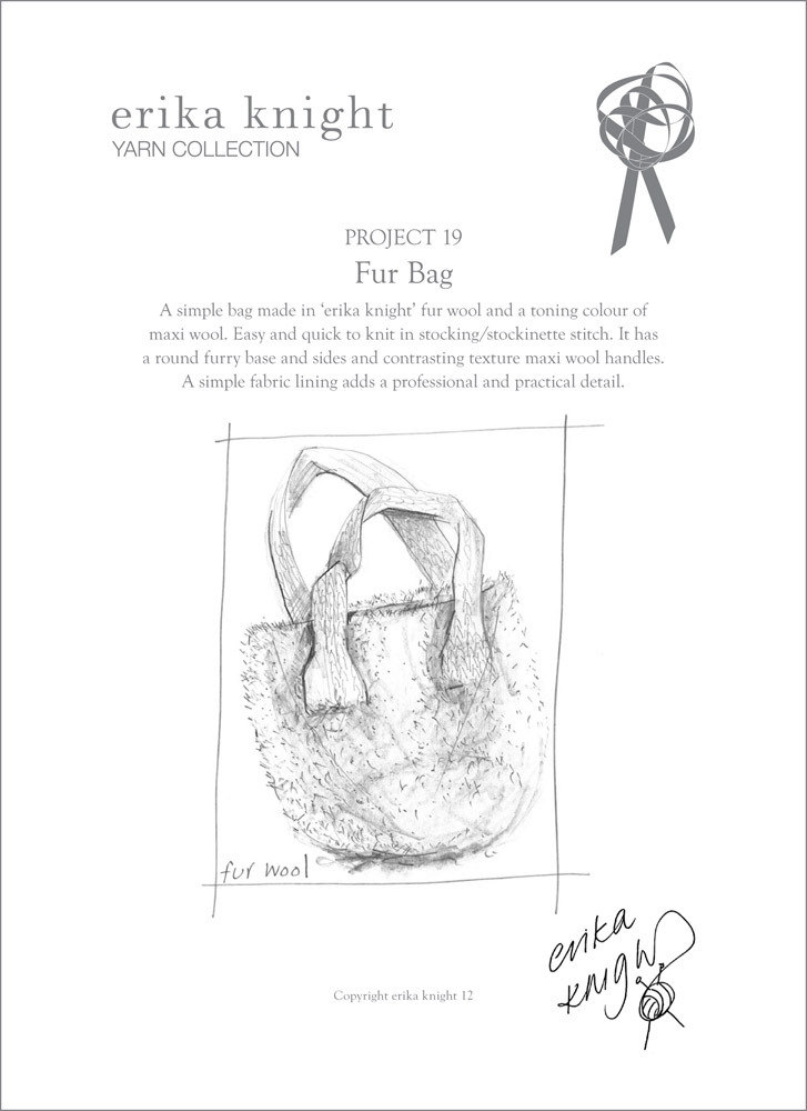 Fur Bag in Erika Knight Fur & Maxi Wool