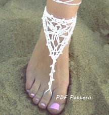 Bridal Barefoot Sandals Crochet Pattern Papilio
