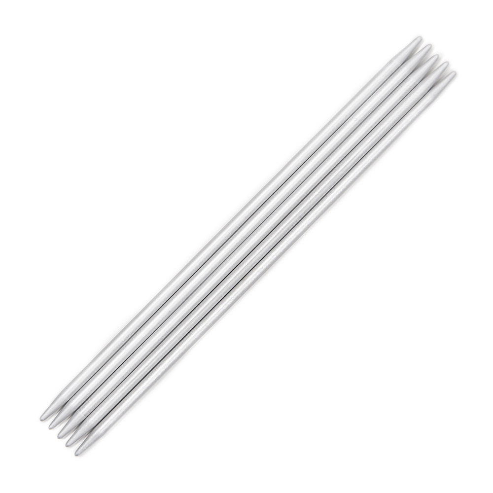 Addi Metal Double Point Sock Needles 15cm (Set of 5