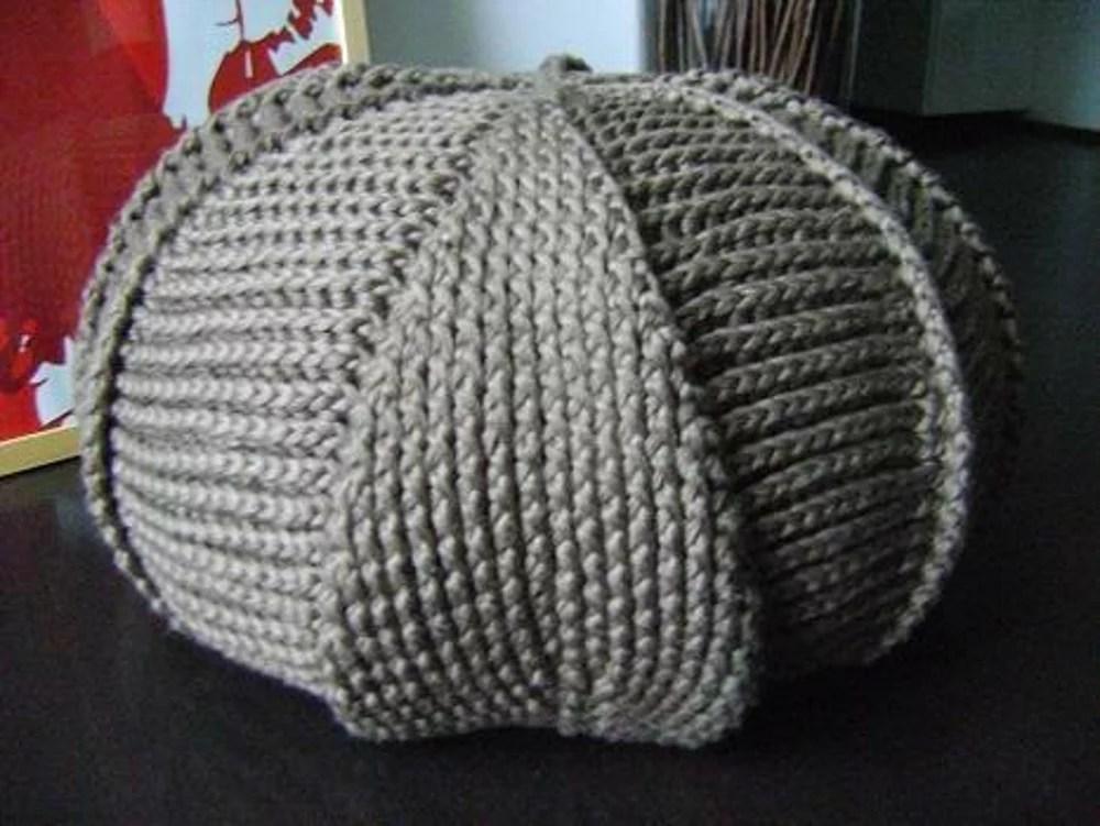 PDF Pattern Large Crochet Pouf Poof Ottoman Footstool