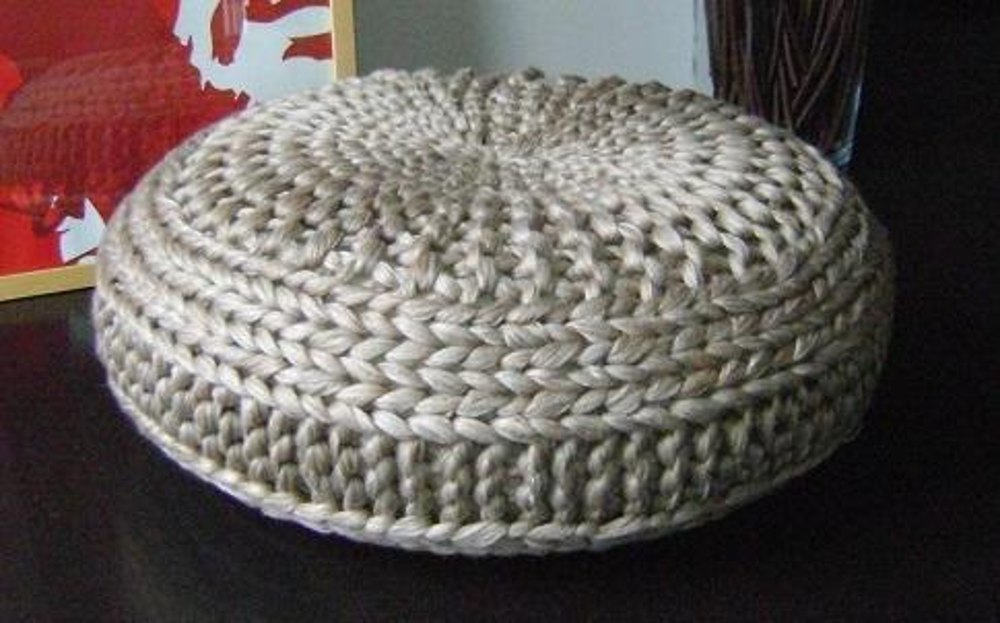 Knitted Extra Large Pouf Pattern Poof Knitting Ottoman