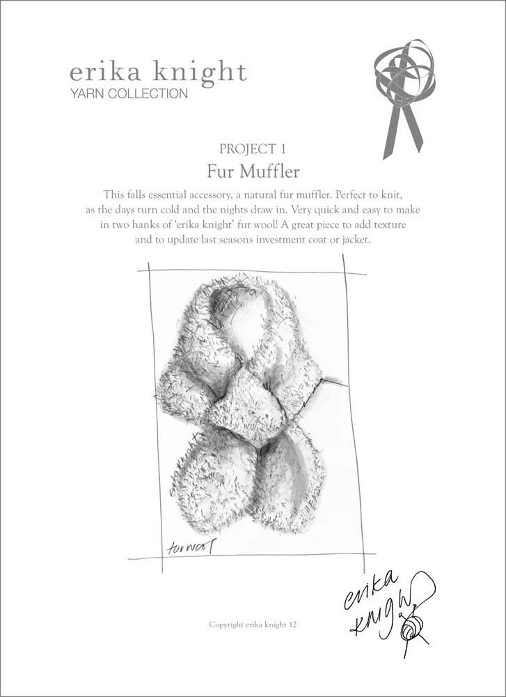 Fur Muffler in Erika Knight Fur Wool