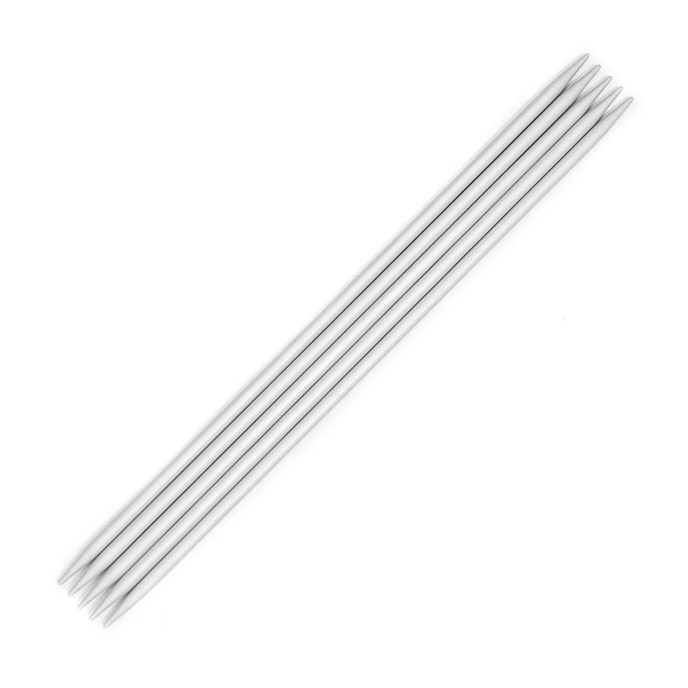 KnitPro Basix Aluminium Double Point Needles 20cm (Set of
