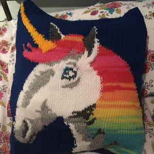 Unicorn Cushion Cover Knitting Pattern By Ruby And The Foxes