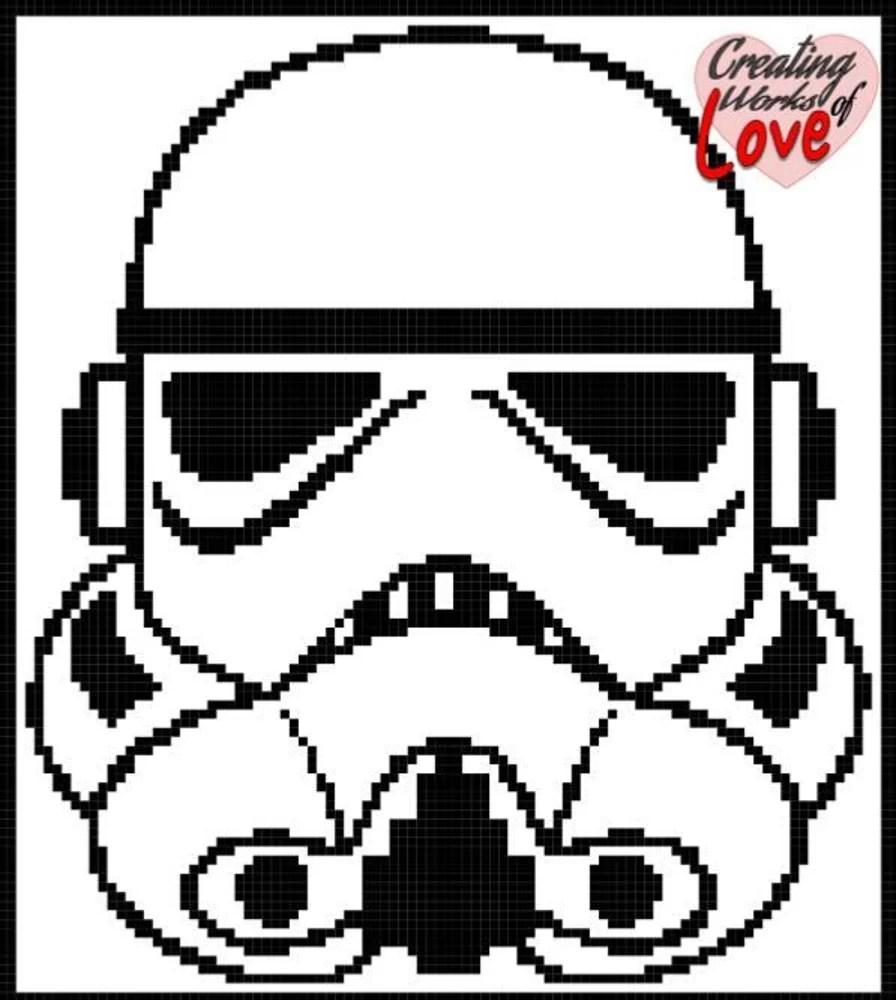 Star Wars Stormtrooper Stitch Graphgan Crochet pattern by