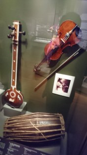musical instruments like the tanpura(not the violin) used in the past for entertainment