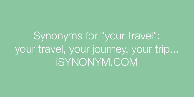 travel synonyms | Viewsummer.co