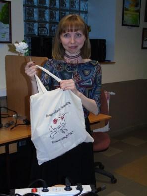 2016 áprilisa, Tatiana Jefremova, az Eötvös Loránd Tudományegyetem mari lektora Iszkaszentgyörgyön