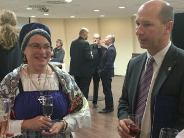 Sari Heimonen és Gáll Attila, Iszkaszentgyörgy polgármestere
