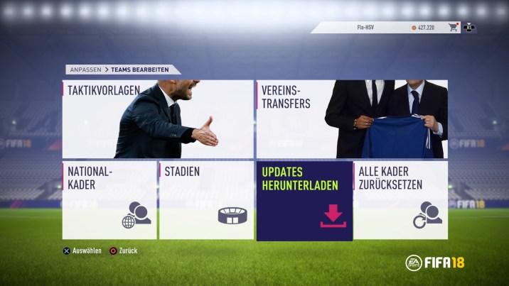 FIFA 18 (Im Menü)