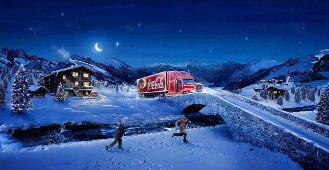 Coca-Cola Winterwelt zu Weihnachten