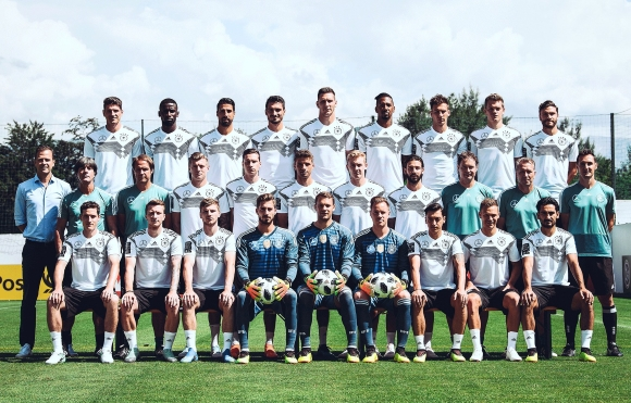 Das offizielle Mannschaftsfoto zur FIFA WM 2018 in Russland