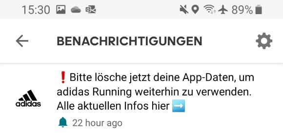 Deshalb stürzt deine adidas Running App ab