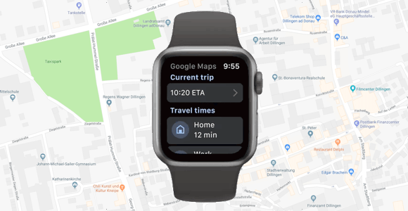 Google Maps App für die Apple Watch