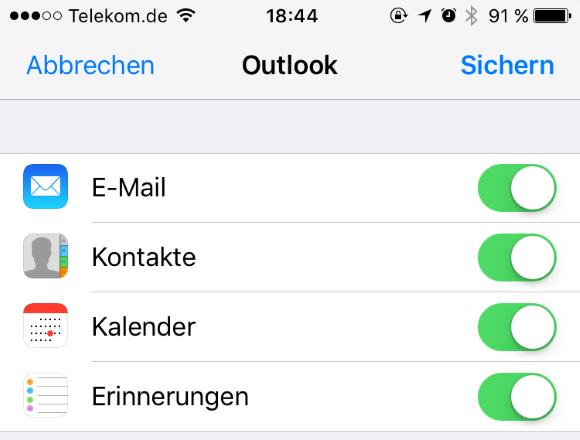 Hotmail mit dem iPhone synchronisieren