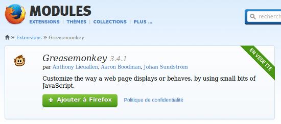 greasemonkey Firefox