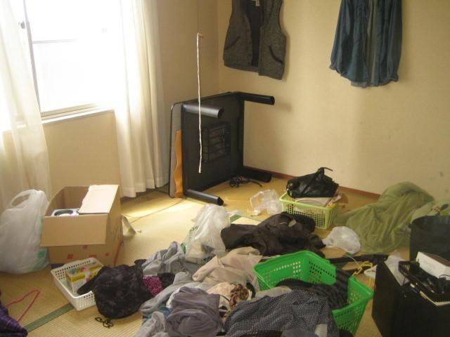 群馬県 前橋市 施設に入居するので、部屋を片付けてください・・・