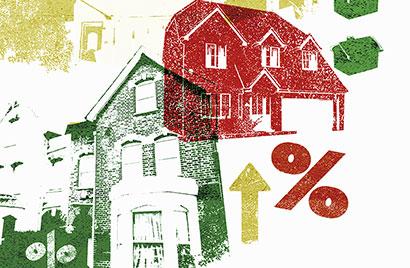 Priserna på bostadsrätter uppåt, villor oförändrade