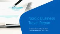 Amadeus studie visar marginella skillnader mellan nordiska affärsresenärer