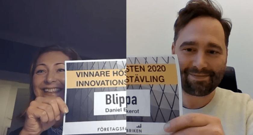 Blippa – med en ny lösning inom fintech – vinnare i Företagsfabrikens Innovationstävling med rekordstort intresse.
