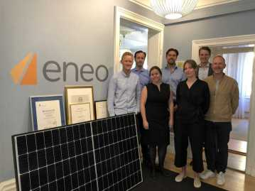 Axel Johnson går in som ägare i solcellsbolaget Eneo 1