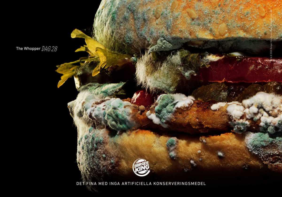 Burger King visar skönheten i mögel 1