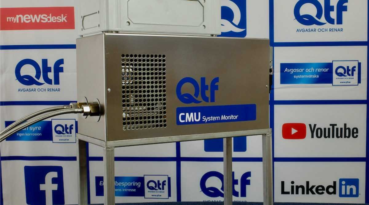 QTF lanserar övervakningsutrustning för systemvätska – CMU System Monitor 1