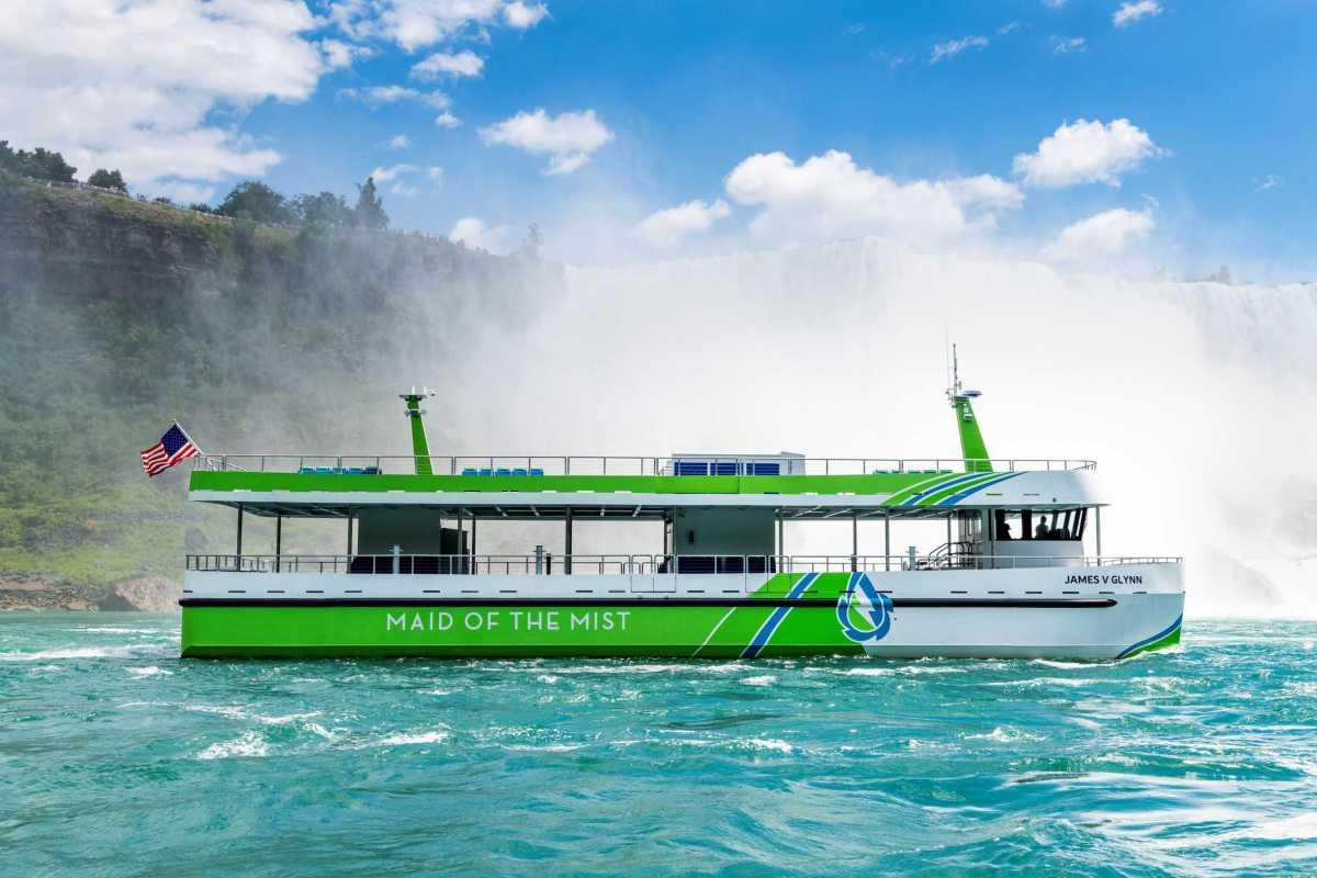 Nya helt eldrivna passagerarfartyg med teknik från ABB tas i trafik vid Niagarafallen 1