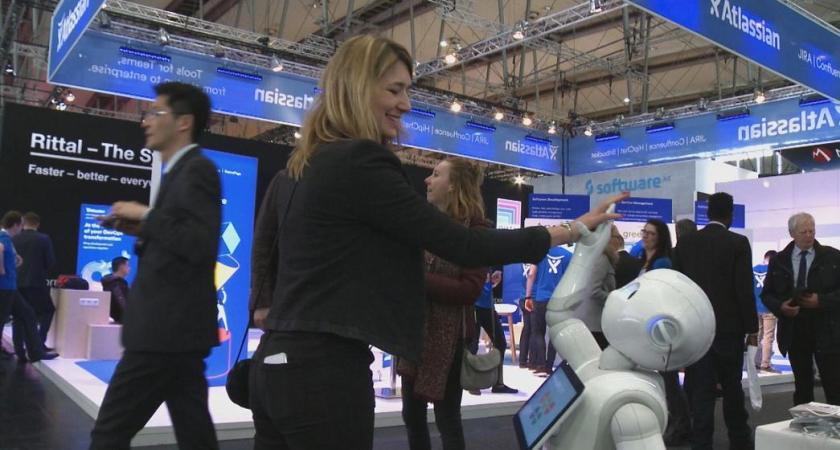 IT-Hälsa besökte gigantiska IT-mässan Cebit på tyska mässan i Hannover