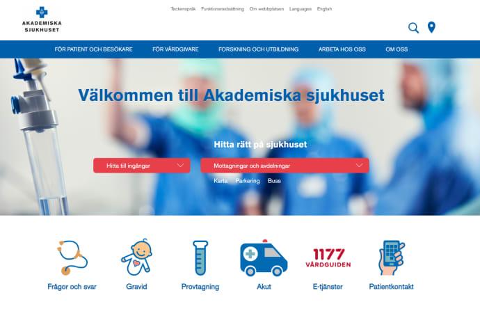 Akademiskas webbplats bäst i kategorin vård och hälsa