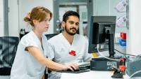 Läkarstudenter utbildas i digital vård