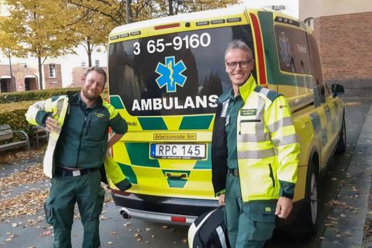 Ambulansen rycker ut tillsammans med högskolan 4