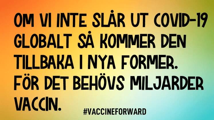 100 000 dollar till svensk insamling för covid-vaccin