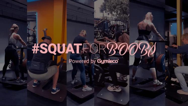 Gymleco stödjer Bröstcancerförbundet med sin egna Squat for Boobs kampanj