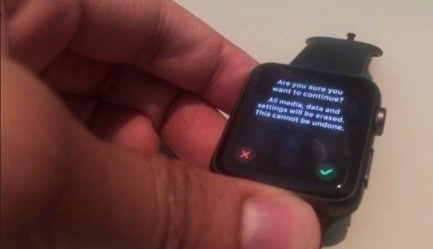 полный сброс Apple-Watch