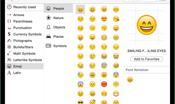 Emoji MAC OS