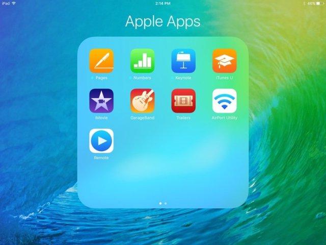iPad-iOS-9 папки-4x4