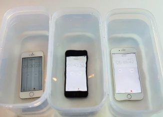 Проверка IPhone SE, 6S, 5S водой