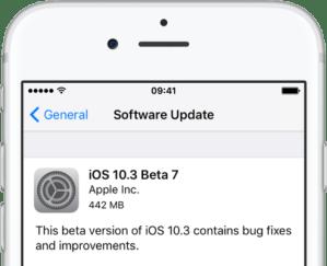 Стали доступны седьмые бета-версии iOS 10.3 и macOS Sierra 10.12.4
