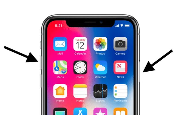 скриншоты в iphone x