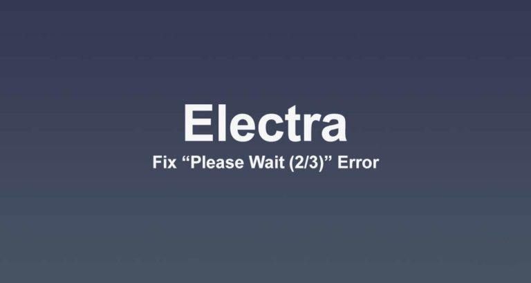 "How to fix the error of the Electra jailbreak ""Please Wait (2/3)"""