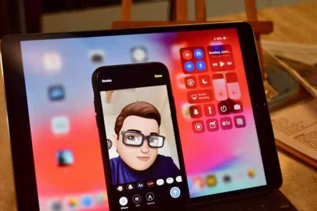 iOS-12-Memoji-and-iPad-Control-Center