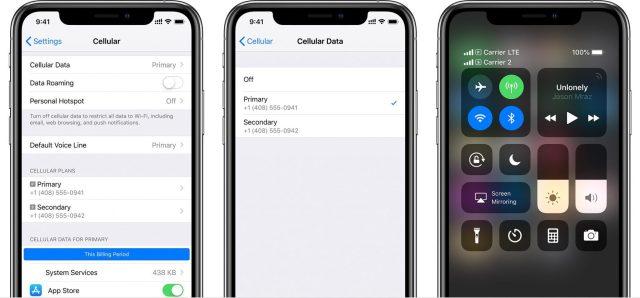 iPhone-dual-SIM-cellular-settings-data-number-control-center-status-icons