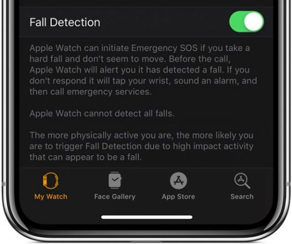 iOS-12-WAtch-Emergency-SOS-Fall-Detection-enabled-600×500